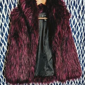 🐺 INC Purple Faux Fur Vest 🐺